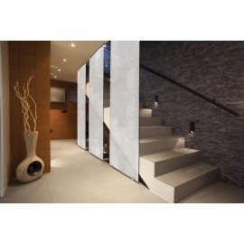 Patterned Decorative White Frosted Window Film - Privacy Frosted Glass Film CLASSIC FLOSSY / WOOL WHITE PATTERN