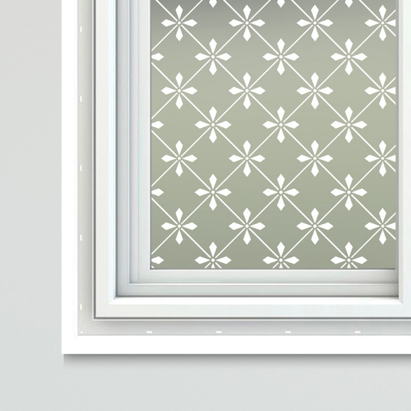 Victorian Theme Window Film Glass Covering Fayette