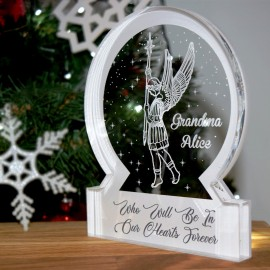 Christmas Village Snow Globe Acrylic Themed Ornament Bespoke Gift