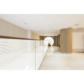 18mm Frosted horizontal Line, Decorative Patterned Window Film