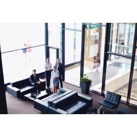 44mm Frosted horizontal Line, Decorative Patterned Window Film 50cm, 76cm, 100cm, 152cm