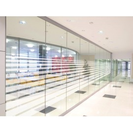 Horizontal Varying Line Pattern, Decorative Patterned Window Film, 152cm
