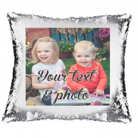 Custom Photo Magic Reveal Cushion Cover PERSONALISED Sequin Pillow Xmas Gift