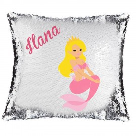 Mermaid Magic Reveal Cushion Cover PERSONALISED Sequin Pillow Xmas Gift