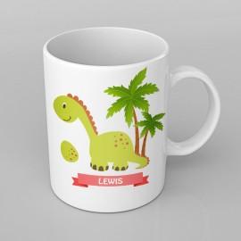 Green Dinosaur design PERSONALISED Mug any name, Custom Made