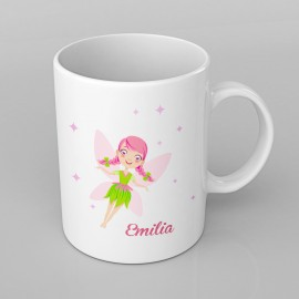 Pink Fairy design PERSONALISED Mug any name, Custom Made