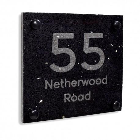 Premium Laser Engraved Quartz Door Number