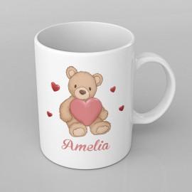 Love Bear design PERSONALISED Mug any name, Custom Made