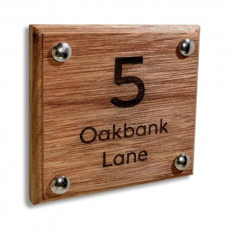 Solid Bespoke Wood Laser Engraved Door Number