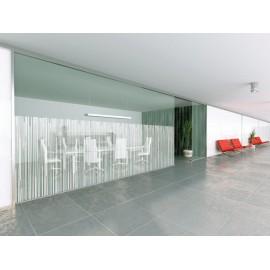 Bamboo Screen Style, White Designer Pattern Window Film