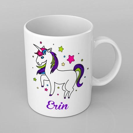 Unicorn design PERSONALISED Mug any name, Custom Made