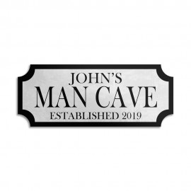 Aluminium High Quality Wall Bar Sign (Welcome To The Man Cave)