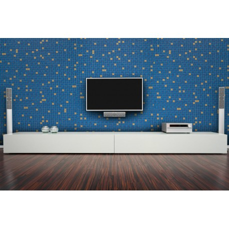 Cover Styl' - Z7 Blue Tile Self Adhesive Sticker, Vinyl Window Wall Door Furniture Covering