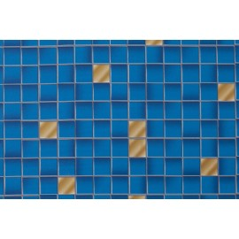 Z7 BLUE TILE SELF ADHESIVE STICKER, VINYL WINDOW WALL DOOR FURNITURE COVERING