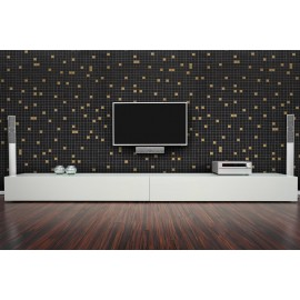 Cover Styl' - Z5 Black Tile Self Adhesive Sticker, Vinyl Window Wall Door Furniture Covering