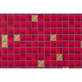 Z6 RED TILE SELF ADHESIVE STICKER, VINYL WINDOW WALL DOOR FURNITURE COVERING