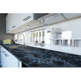 Cover Styl' - U4 Black Marble Self Adhesive Sticker, Vinyl Window Wall Door Furniture Covering