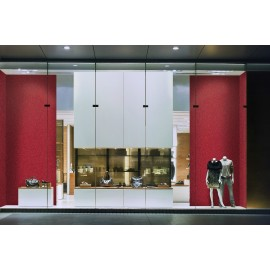 Cover Styl' - R8 Red Glitter Self Adhesive Sticker, Vinyl Window Wall Door Furniture Covering