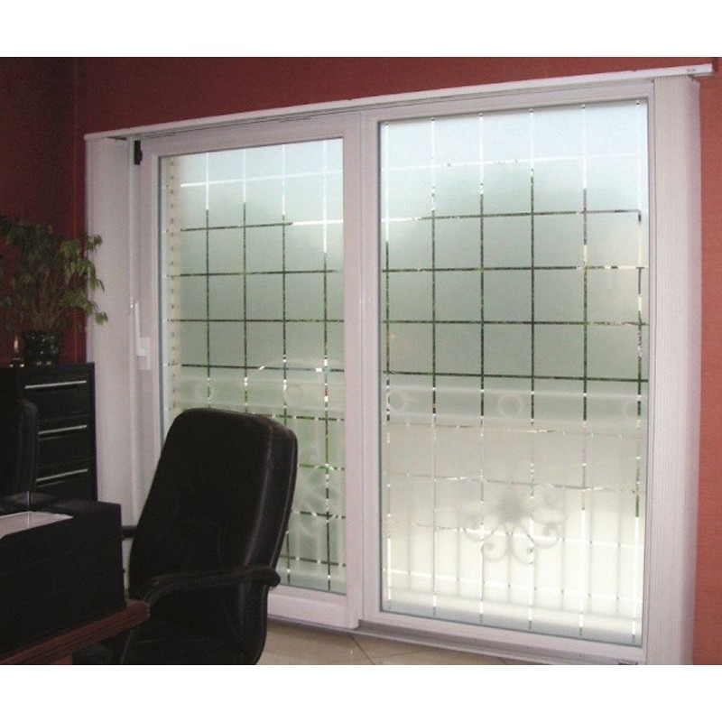 Patterned Decorative White Frosted Window Film - Privacy ...