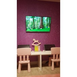 R13 PINK GLITTER WALL, DOOR, FURNITURE, STICKY VINYL COVERING