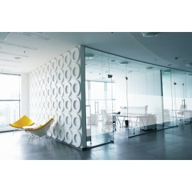 Frosted Shells White Frosted Vinyl Privacy Glass Covering Window Film ATO