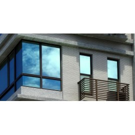 New, True One Way Mirror Vision, Silver Reflective Window Film. Solar Heat Reduction Tint