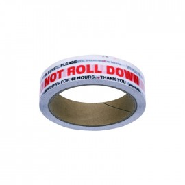 DO NOT ROLL DOWN TINT STICKER TAPE
