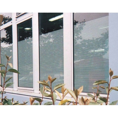 Patterned Decorative White Frosted Window Film Glass Film 4mil Line