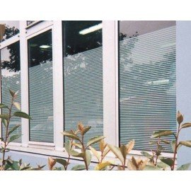 Patterned Decorative White Frosted Window Film - Privacy Frosted Glass Film FR04 4MIL LINE PATTERN
