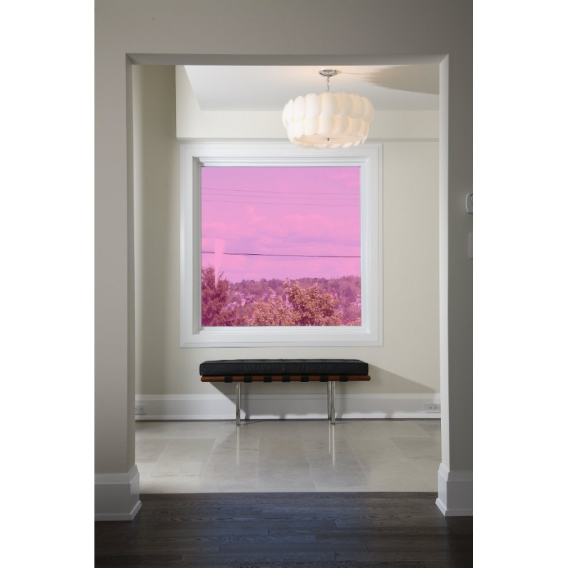 pink 50 transparent colourful window film optically clear tint. Black Bedroom Furniture Sets. Home Design Ideas
