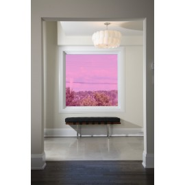 Pink 50 Transparent Colourful Window Film Optically Clear Tint