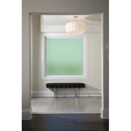 Plain Green Frosted Window Film