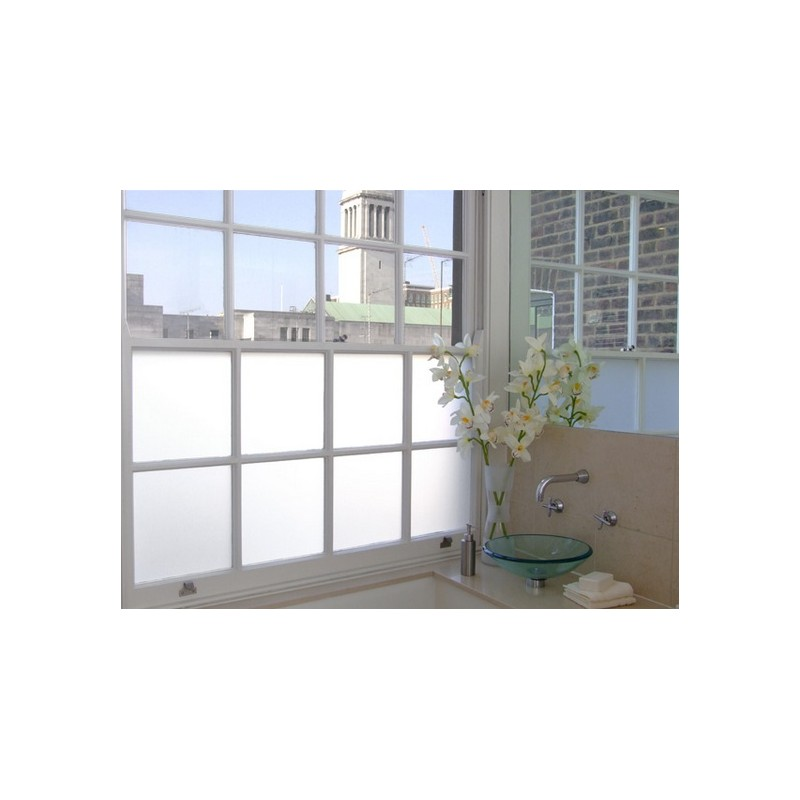 Privacy Bronze Frosted Window Film Frost Etched Glass Sticky Back Plastic Vinyl