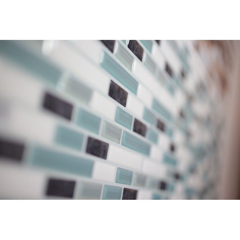 Chrome Turquoise Glitter White Grey Luxury 3d Gel Mosaic