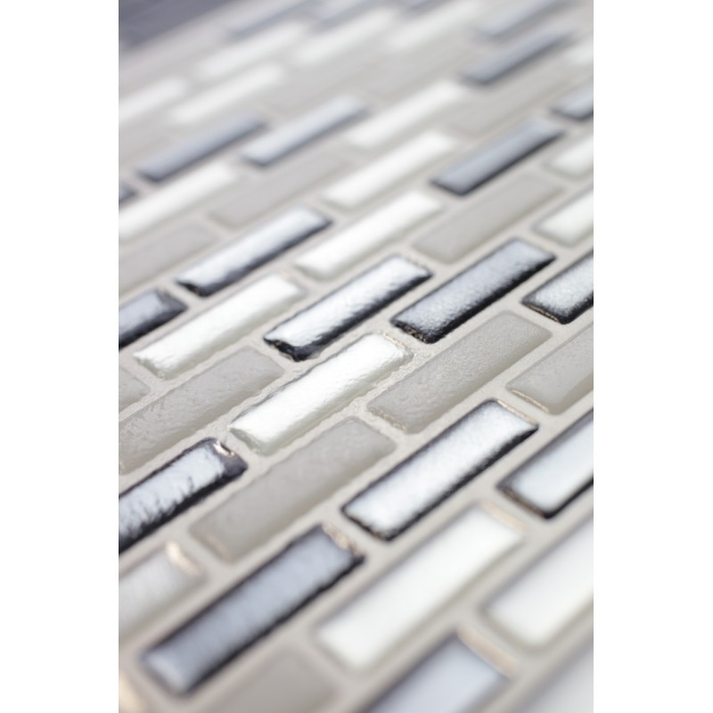 Chrome Silver Nickle White White 3d Mosaic Tile Wall