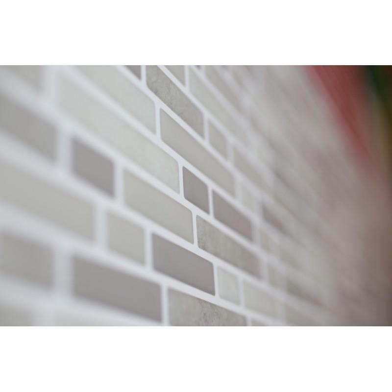 Beige Marble Grey Marble Luxury 3d Gel Mosaic Tile Wall