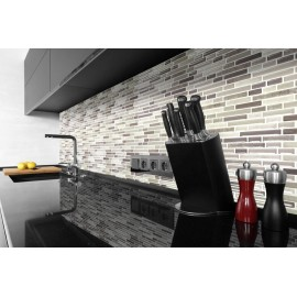 Beige Marble, Grey Marble 3D effect, Self Adhesive Gel MOSAIC TILE Wall Transfer Textured Sticker Tile AWF09
