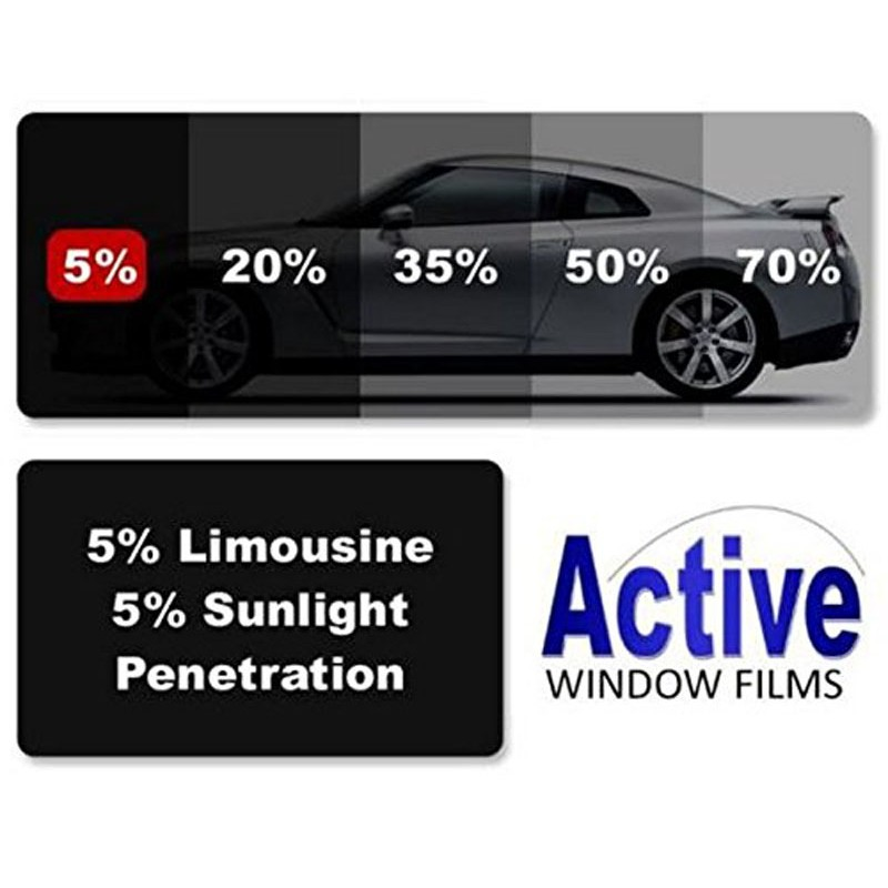 5 Limo Black Car Window Auto Tint Film For Tinting Cars