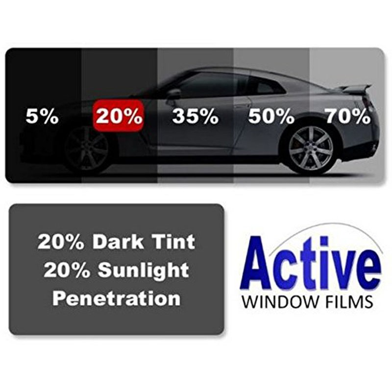 20 Meduim Black Car Window Auto Tint Film For Tinting Cars